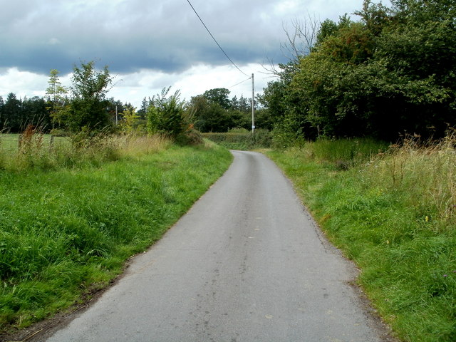 Minor road to Llanfilo near Talgarth