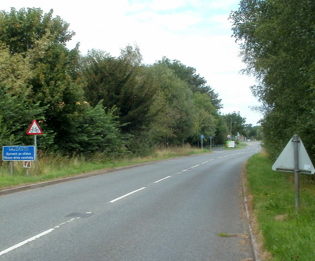 SW boundary of Talgarth