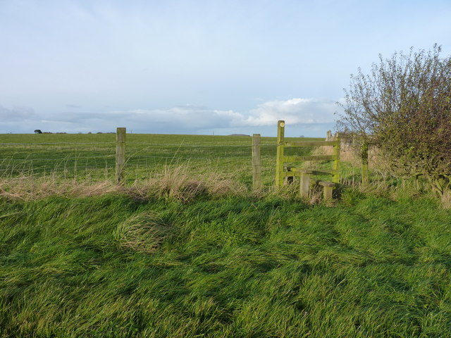 Corner of a field and a stile