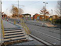 SJ8798 : Clayton Hall Tram Stop by David Dixon