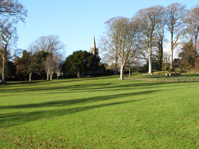 View across parkland to Tollymore's Clanbrassil Stables