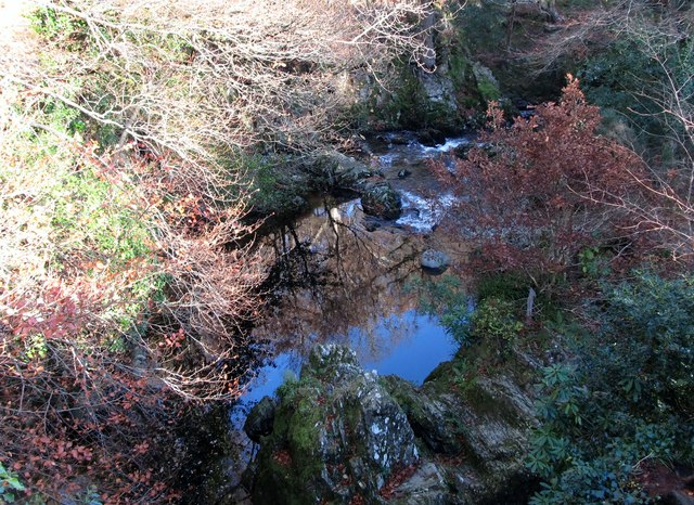 The Shimna below Tollymore's Old Bridge
