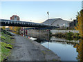 SJ8798 : Ashton Canal, Velopark Bridge by David Dixon