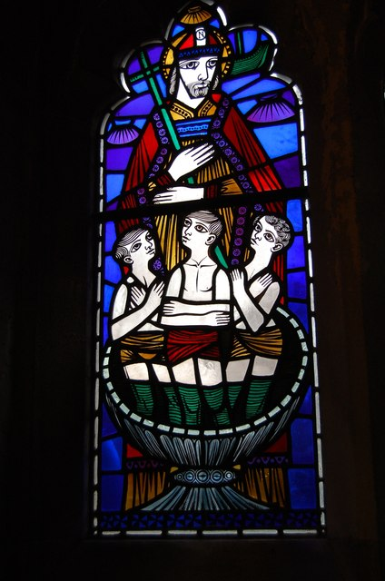 Stained glass window, St John's Church, St Leonards
