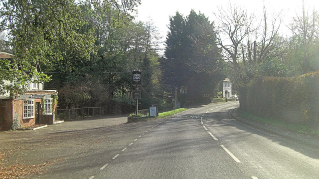 A283 passes the Winterton Arms