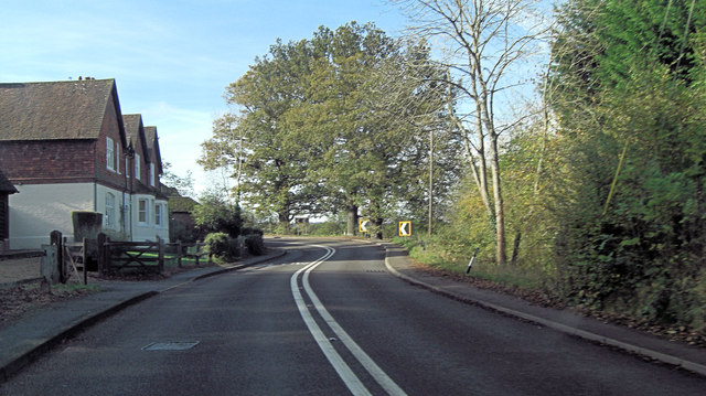 A283 sharp bends north of Chiddingfold