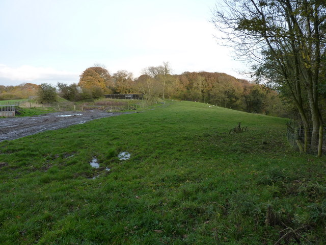 A slurry silo beside Broomhill Wood
