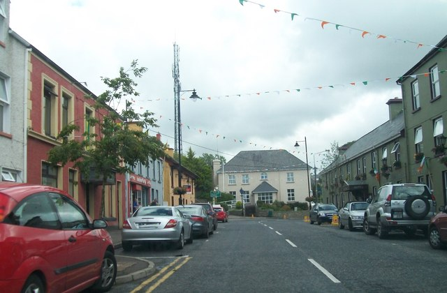 Glenties Garda Siochana Barracks facing up Main Street