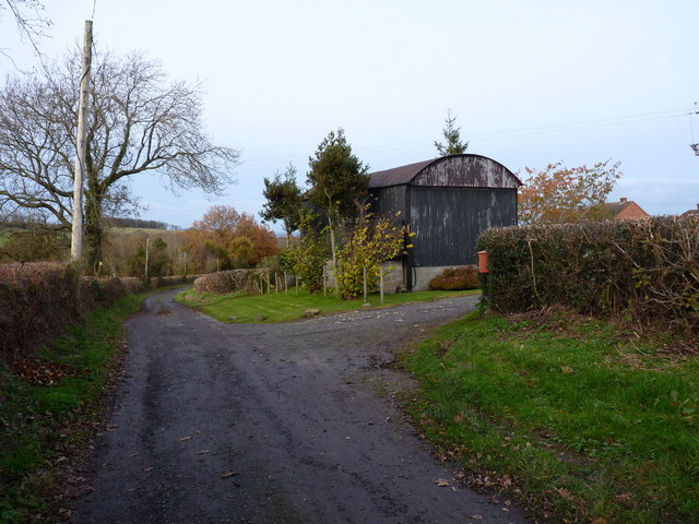 Dutch barn at Holly Farm
