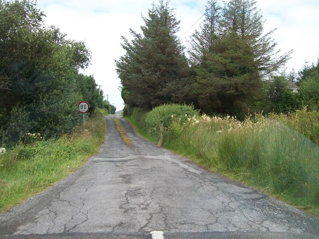 Back road off the N56 (Mill Road) serving the townland of Mullantiboyle
