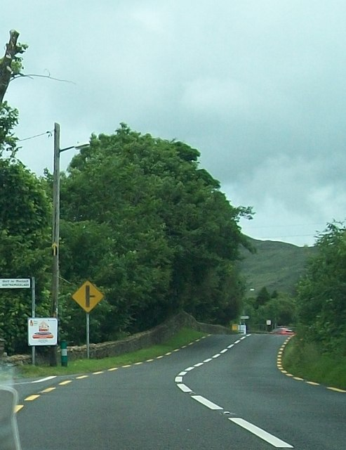 Bends on the N56 (Mill Road) at Mullantiboyle
