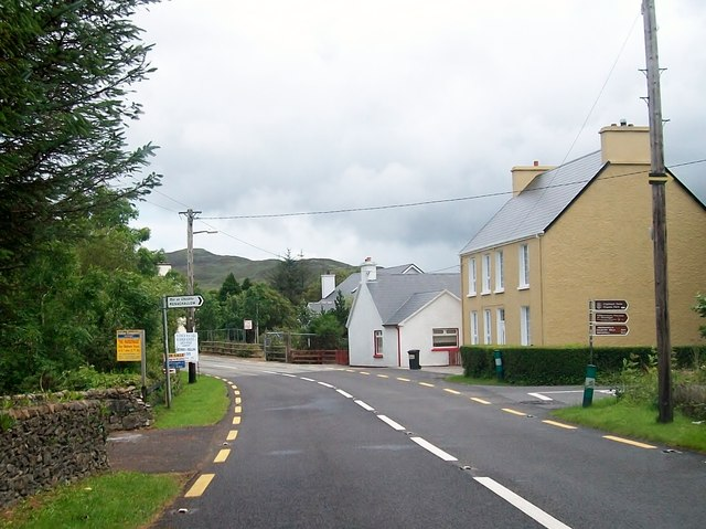 Houses at the junction of the N56 and Meenahalla Road