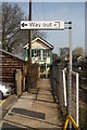TL8928 : Exit from Chappel and Wakes Colne station by Glen Denny