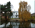 SJ6787 : Waterside house on Bridgewater Canal, Lymm by Anthony O'Neil