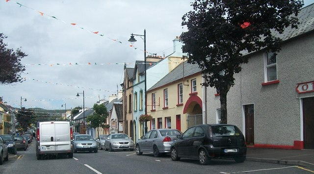 View north along Glenties' Main Street