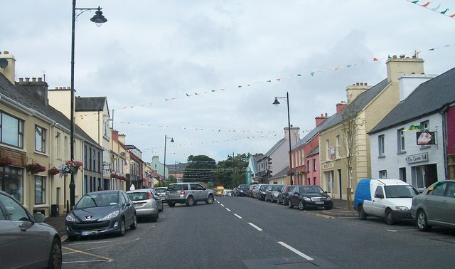 The northern section of Main Street, Glenties