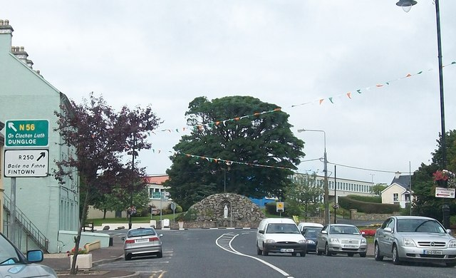 The grotto at the northern end of Glenties' Main Street