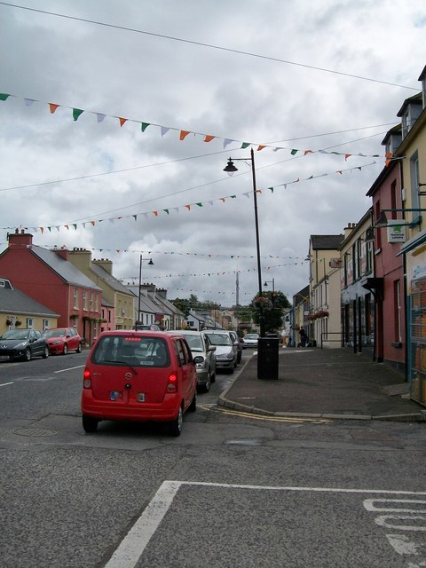 Main Street, Glenties from the corner of Church Road