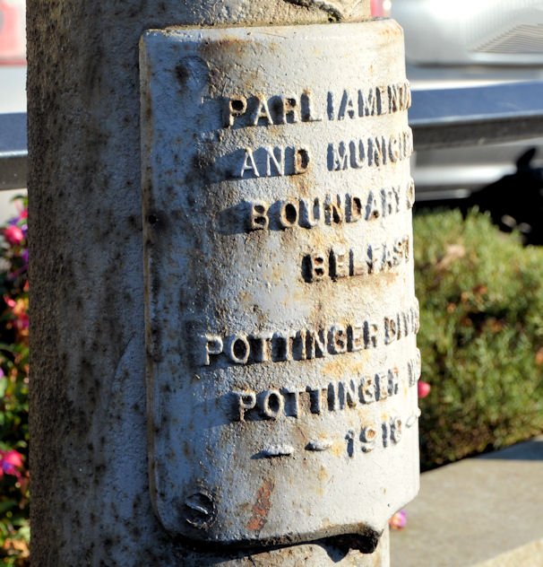 Boundary post, Castlereagh Road, Belfast (2)