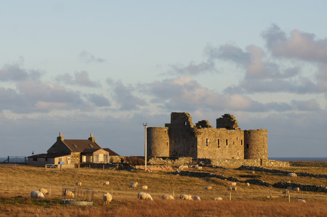 Muness Castle from the west