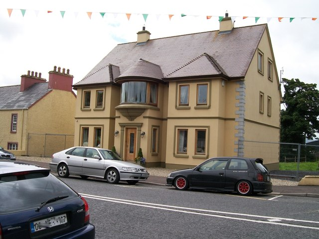 Modern detached house at the north end of Main Street, Glenties