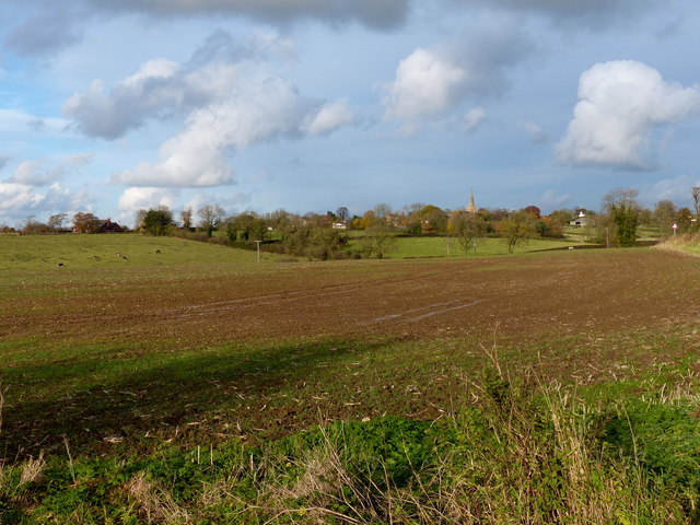 Farmland south of Houghton on the Hill