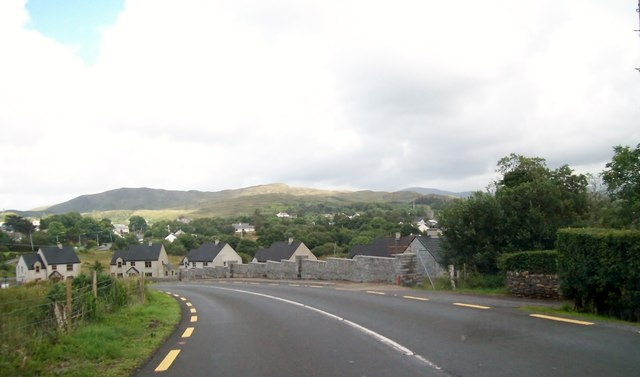 Approaching the uncompleted Gleann An Caisil Estate at Gortnamucklagh