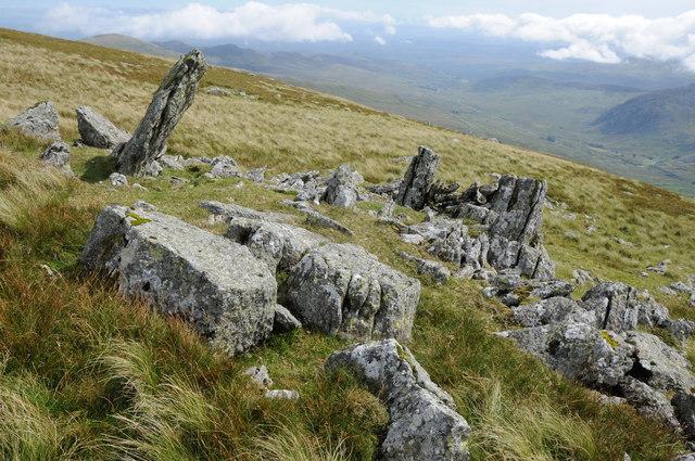 Rocks above Creigiau Malwod