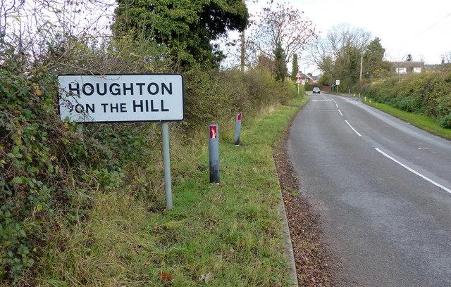 Stretton Lane enters Houghton on the Hill