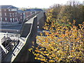SJ4066 : Footbridge over St. Martin's Way, Chester by Malc McDonald