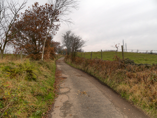 Track towards Werneth Low