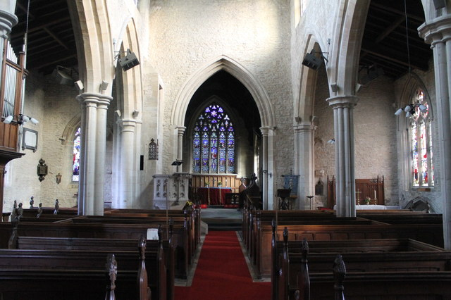 Interior, St Peter's church, North Rauceby