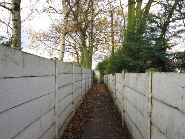 A path towards Common Lane, Royston