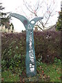 SE3613 : A National Cycle Network marker on Navvy Lane by Ian S