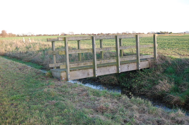 Footbridge over a drain on Romney Marsh