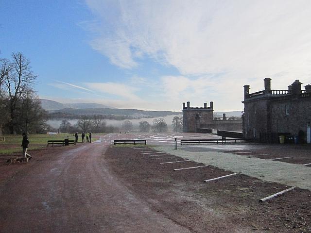 Car park, Drumlanrig Castle