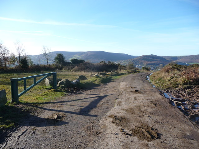 Upland lane above Pontypool