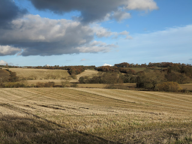 Stubble field near Bearpark