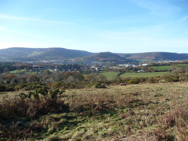 Upland overlooking Trevethin and Pontypool