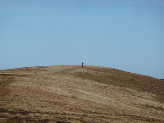 Solo walker on the Gwent ridgeway