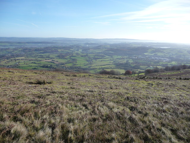 Part of Monmouthshire viewed from Mynydd Garn-wen