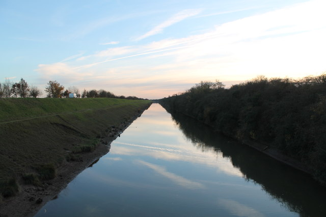 Dusk over Hob Hole Drain