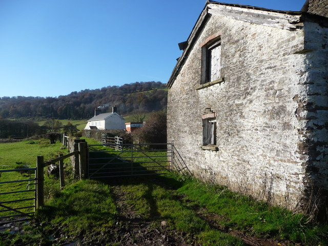 Old farm buildings at Coed Howell