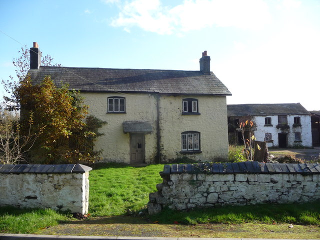 Old farm house and outbuildings