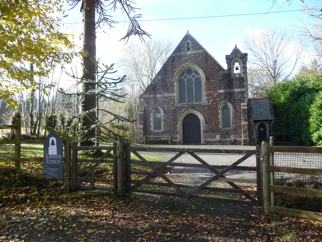 Old church at Llanover