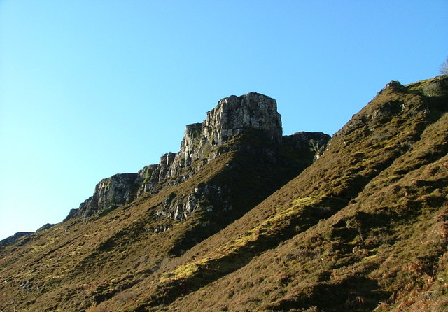 Cliffs above the Uig to Staffin road