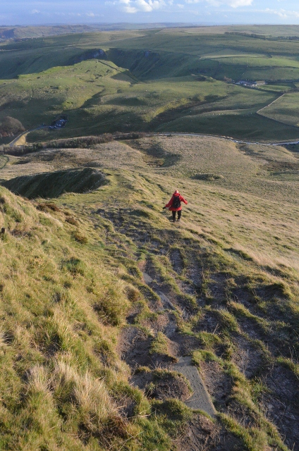 Descending Mam Tor