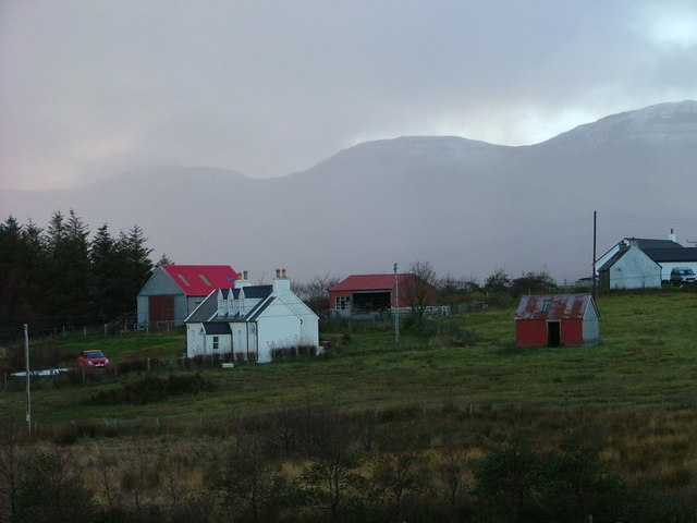Crofthouse and outbuildings at Ellishadder