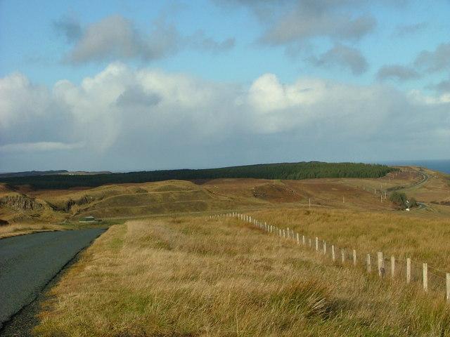 The A855 near Rigg