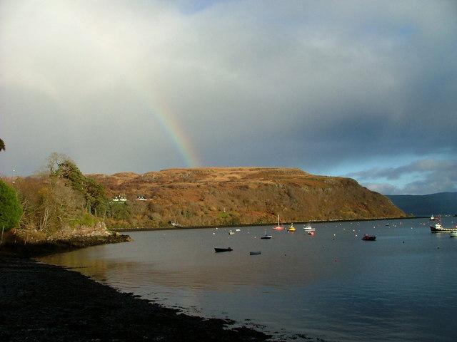 Rainbow above Portree Bay